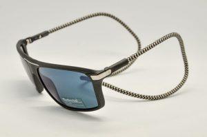Occhiali da sole Barberini Explorer br1610 - 1 - Telaio nero e lenti polarizzate blue grigio