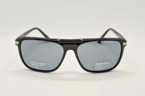 Occhiali da sole Barberini Explorer br1618 - 1 - Telaio nero e lenti polarizzate grigie
