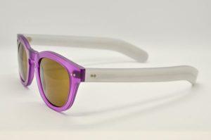 Occhiali da sole Locchiale Design K3208 - M1228/0688 - telaio in acetato viola e ghiaccio