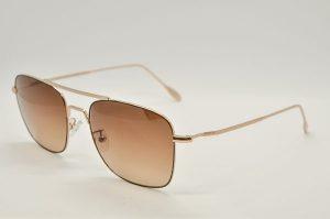 Occhiali da sole Locchiale Design ROBERT - 4 - Telaio nero ed oro con lenti marrone sfumato