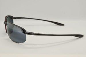 Occhiali da soleMaui Jim Hookipa Polarized - 407-02 - Lente grigio e telaio nero lucido