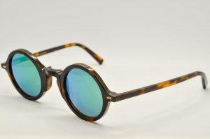 Occhiali da sole Movitra 215r - Telaio avana e lenti verde grigio