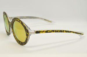 Occhiali da sole Piero Massaro PM342 - 735 - Telaio avana e lenti oro marrone