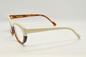 Occhiali da vistaCaroline Abram MELUSINE -177 - Telaio crema e marrone