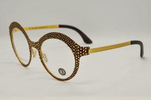 Occhiali da vista Liò Occhiali Buccia D'Arancia - IVM0974 - c02 - Telaio oro e marrone