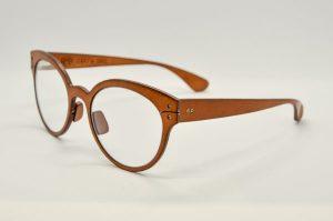Occhiali da vista Lucas De Stael Minotaure Full Rim - 23 - Marrone - Titanio e pelle