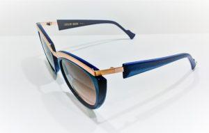 Occhiali da sole Caroline Abram GLORIA - 401 - telaio in acetato e metallo blue e oro