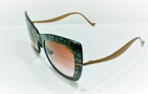 Occhiali da sole Caroline Abram RHODA - Noir - Telaio in acetato nero e bronzo