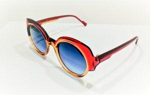 Occhiali da sole Caroline Abram TIFFANY - 502 - Telaio in acetatocolor rosa e arancione