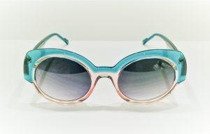 Occhiali da sole Caroline Abram TIFFANY - 504 - Telaio in acetatocolor rosa e verde