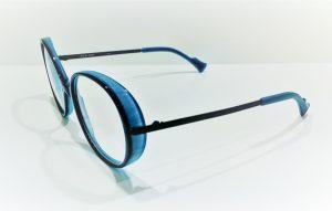 Occhiali da vista Caroline Abram UFFIE - 512 - Telaio in acetato e metallo blue e turchese
