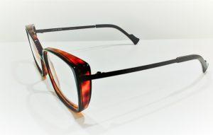 Occhiali da vista Caroline Abram UMBERTA - 515 - Telaio in acetato e metallo nero e avana