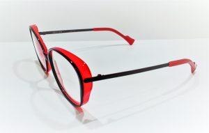 Occhiali da vista Caroline Abram URSULA - 511 - Telaio in acetato e metallo viola e rosso