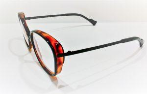 Occhiali da vista Caroline Abram URSULA - 515 - Telaio in acetato e metallo nero e avana