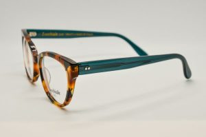 Occhiali da vista Locchiale Design GRACE - HAG - Telaio acetato frontale avana e stecche verdi
