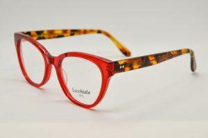 Occhiali da vista Locchiale Design GRACE - REH - Telaio acetato frontale rosso e stecche avana