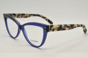Occhiali da vista Locchiale Design K3332 - M-1222/0018 - telaio in acetato con frontale blue e stecche maculate