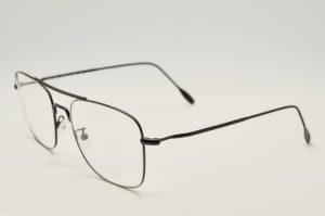 Occhiali da vista Locchiale Design ROBERT - 5 - telaio in acciaio chirurgico nero ed argento