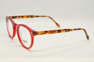 Occhiali da vista Locchiale Design JAMES - REH - telaio acetato con frontale rosso e stecche avana