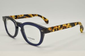 Occhiali da vista Locchiale Design K436 - 1 - telaio con frontale blue e stecche avana