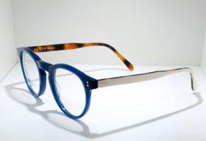 Occhiali da vista Locchiale Design JAMES - BLW - telaio in acetato con frontale blue e stecche bianche
