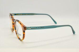 Occhiali da vista Locchiale Design JAMES - HAG - Telaio acetato con frontale avana e stecche verdi