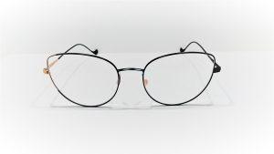 Occhiali da vista Caroline Abram VALENTINE 545 - Montatura in metallo, colore nero e oro