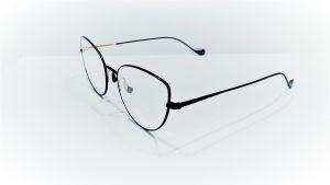 Occhiali da vista Caroline Abram VALENTINE 545 - Montatura in metallo, colore nero opaco e oro lucido