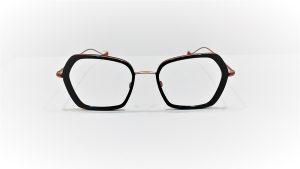 Occhiali da vista Caroline Abram WERA 615 - montatura in acetato e metallo nero e bronzo