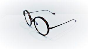 Occhiali da vista Caroline Abram WILLOW 616 - Montatura in acetato e metallo dalla forma rotonda, colore havana scuro e bordeaux opaco