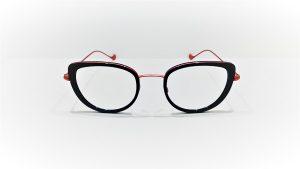 Occhiali da vista Caroline Abram WINONA 613 - montatura in acetato e metallo turchesee rosa antico